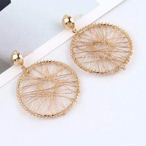 Fashion Gold Tone Earrings